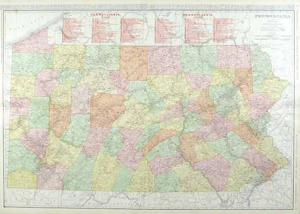 Pennsylvania Railroads Map, 1906-main-9460K