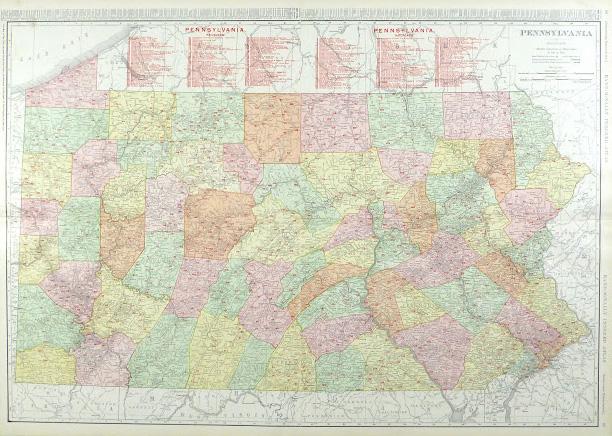 Pennsylvania Railroads Map, 1906-main-9460K