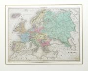 Europe Map, 1859-matted-9484K