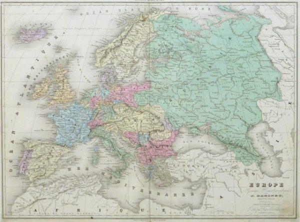Europe Map, 1859-main-9484K