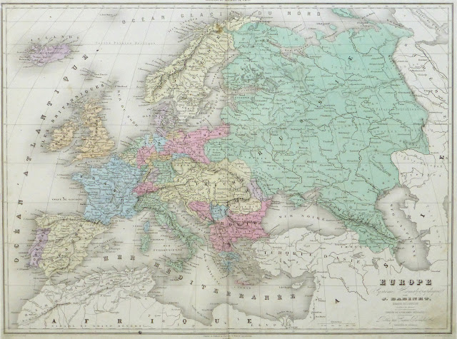Europe Map, 1859 - Original Art, Antique Maps & Prints