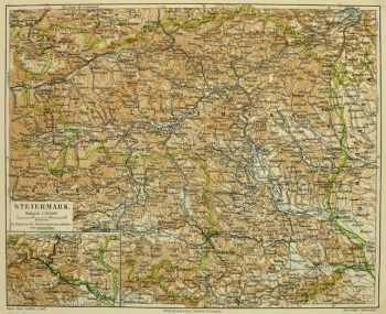 Vintage Styria, Austria Map,1880-main-KB1669