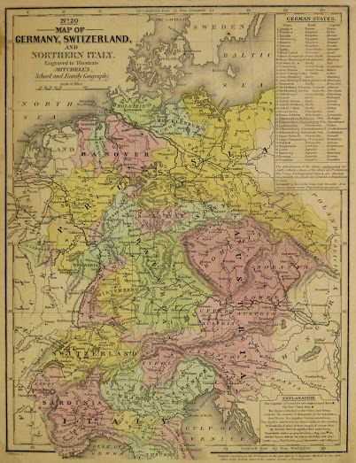 Map germany switzerland 1840 original art antique maps prints vintage germany switzerland1840 main kb1675 gumiabroncs Image collections
