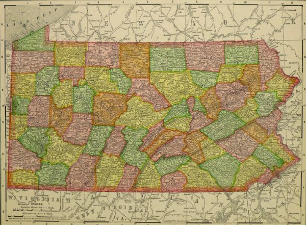 Map of Pennsylvania, 1907-main-KB1682
