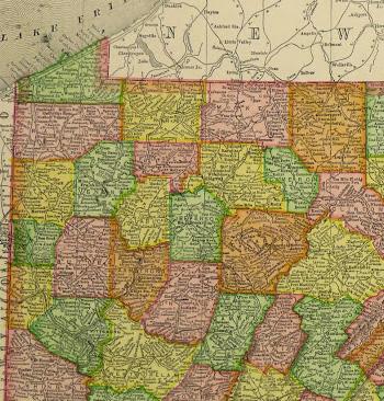 Map of Pennsylvania, 1907-detail 2-KB1682