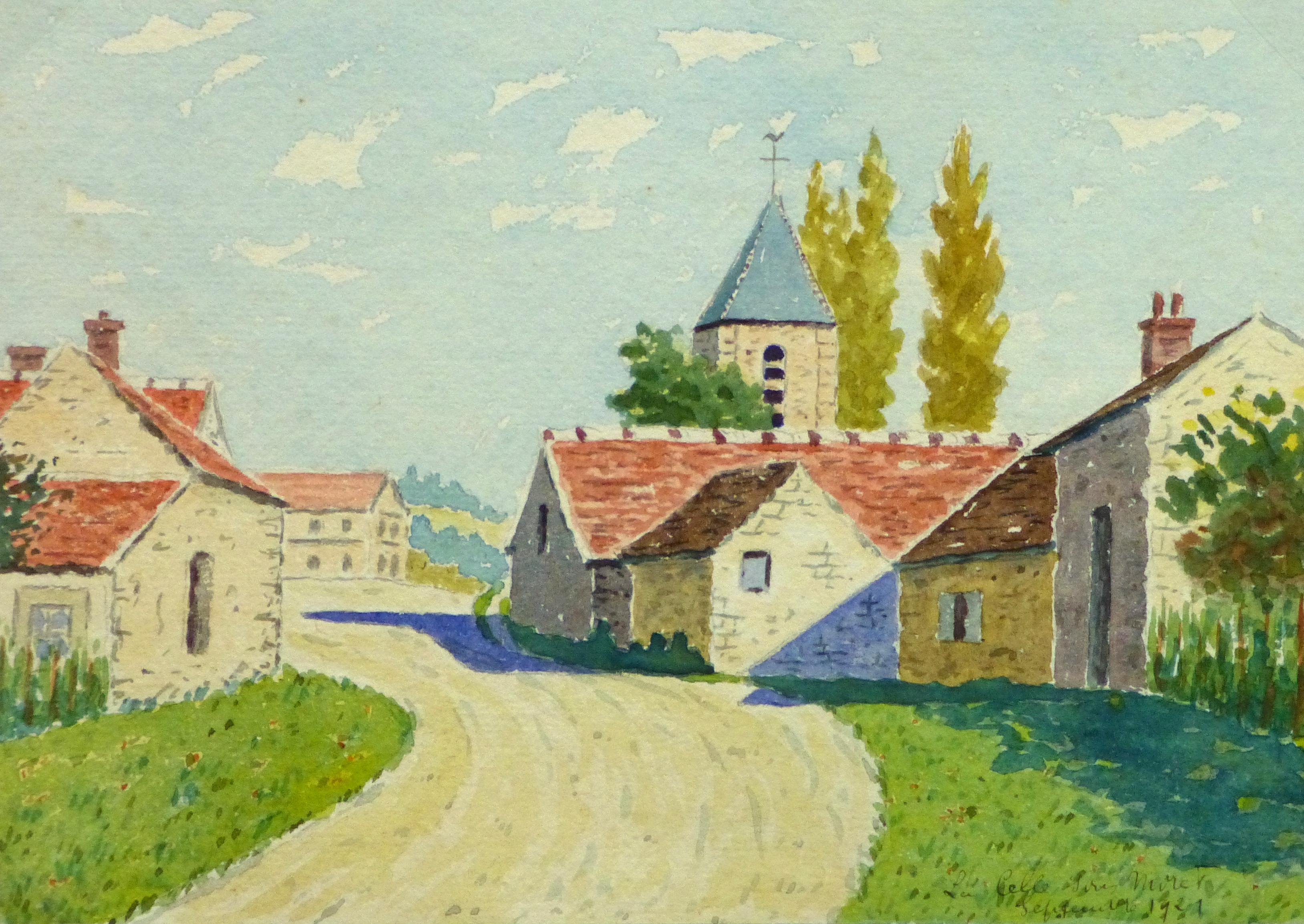 Watercolor Landscape - La Celle Sur Moret, 1921-main-10741M