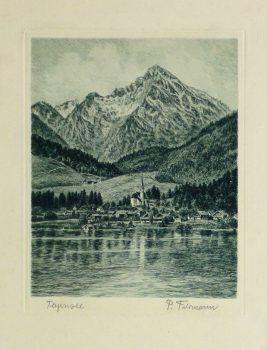 Etching - Lake Tegernsee, Circa 1950-main-10747M