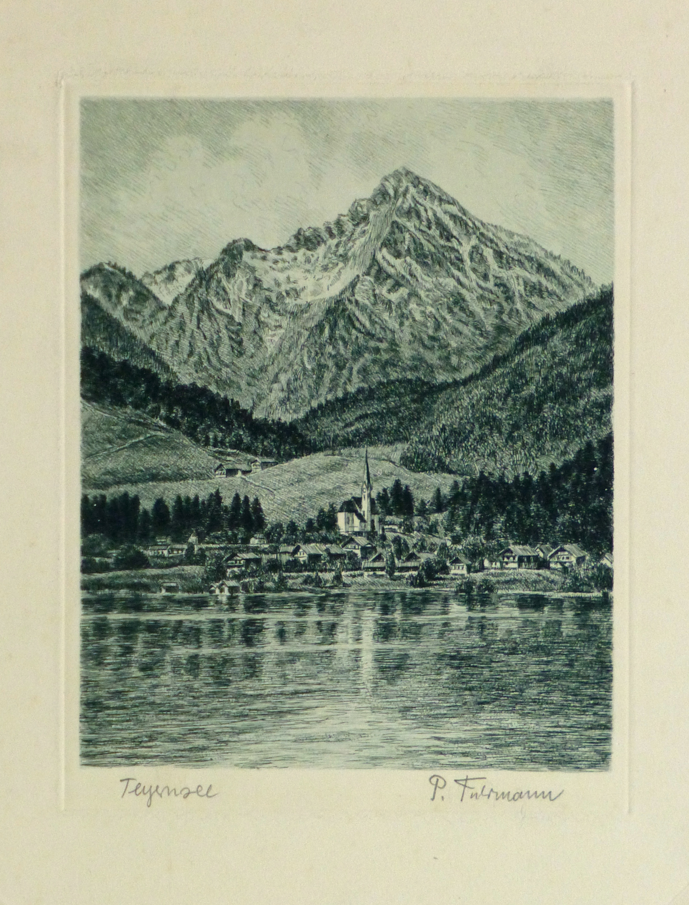 Etching - Lake Tegernsee, Circa 1950-main-10747M