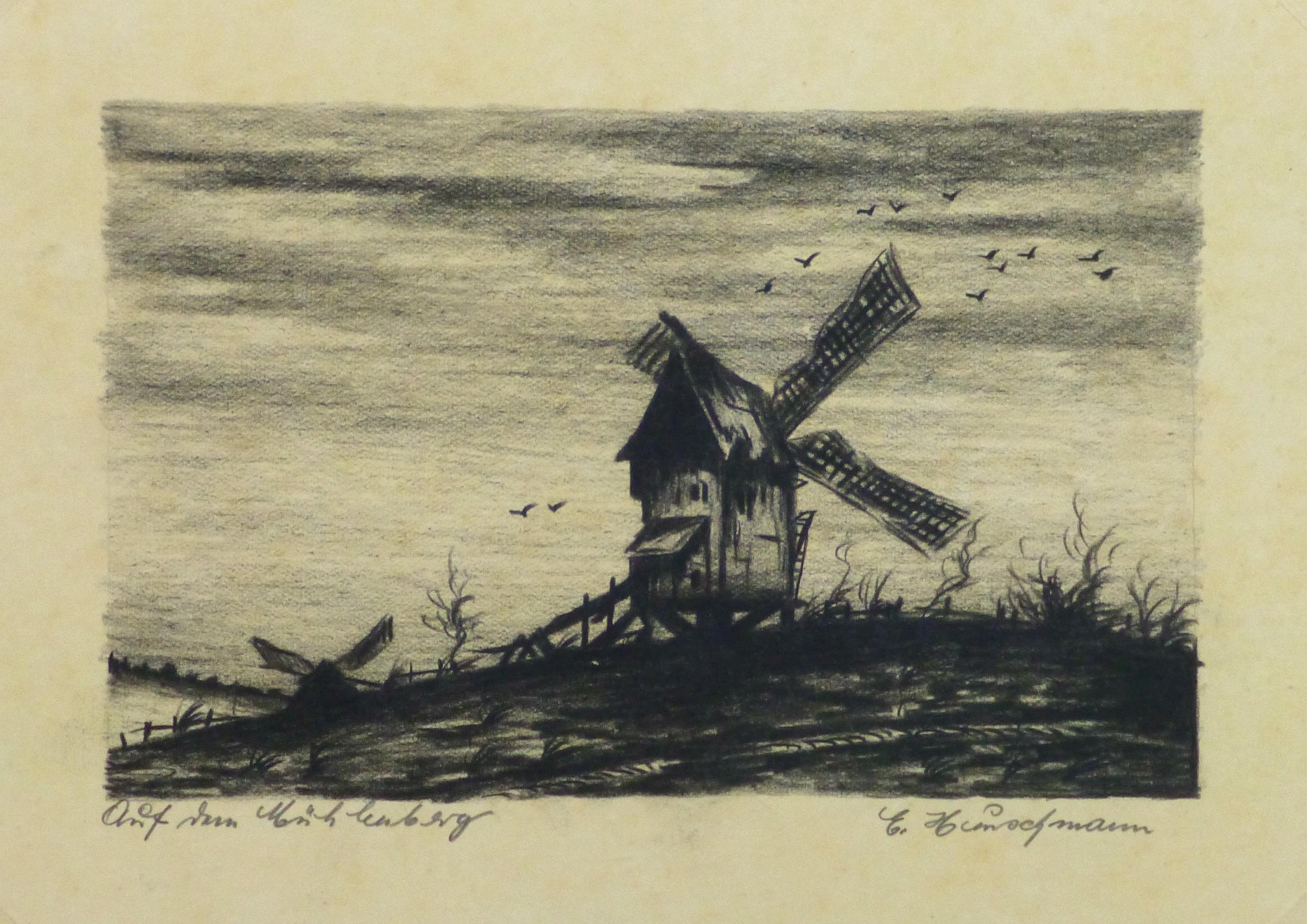 Windmill Print - Circa, 1930-main-10749M