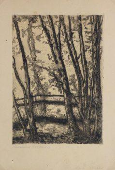 Aquatint - Wooded Creek, Circa 1920-main-10750M