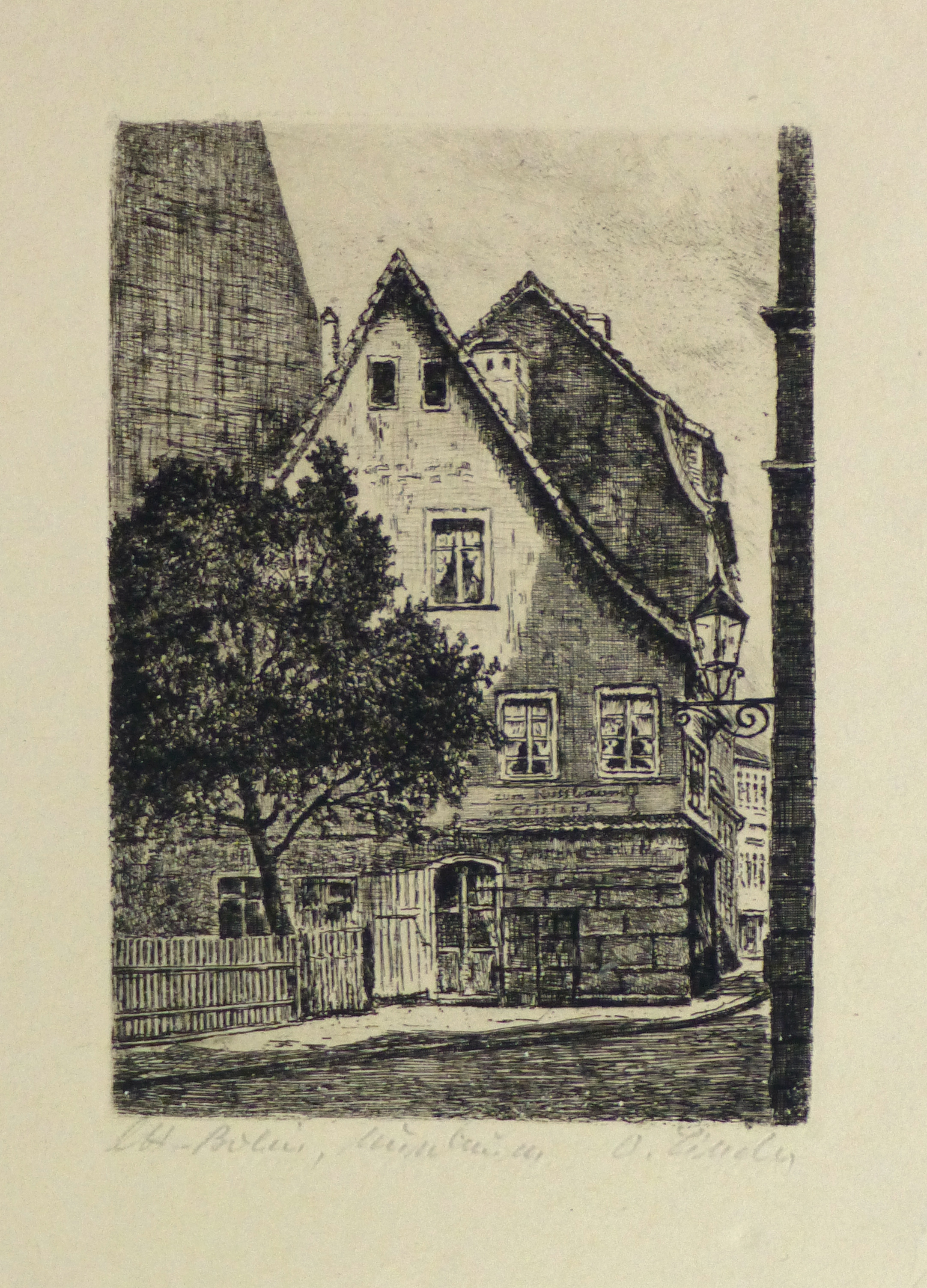Etching - The Corner Pub, Circa 1930-main-10752M