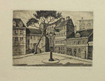 Aquatint - Town Center, Circa 1930-main-10753M