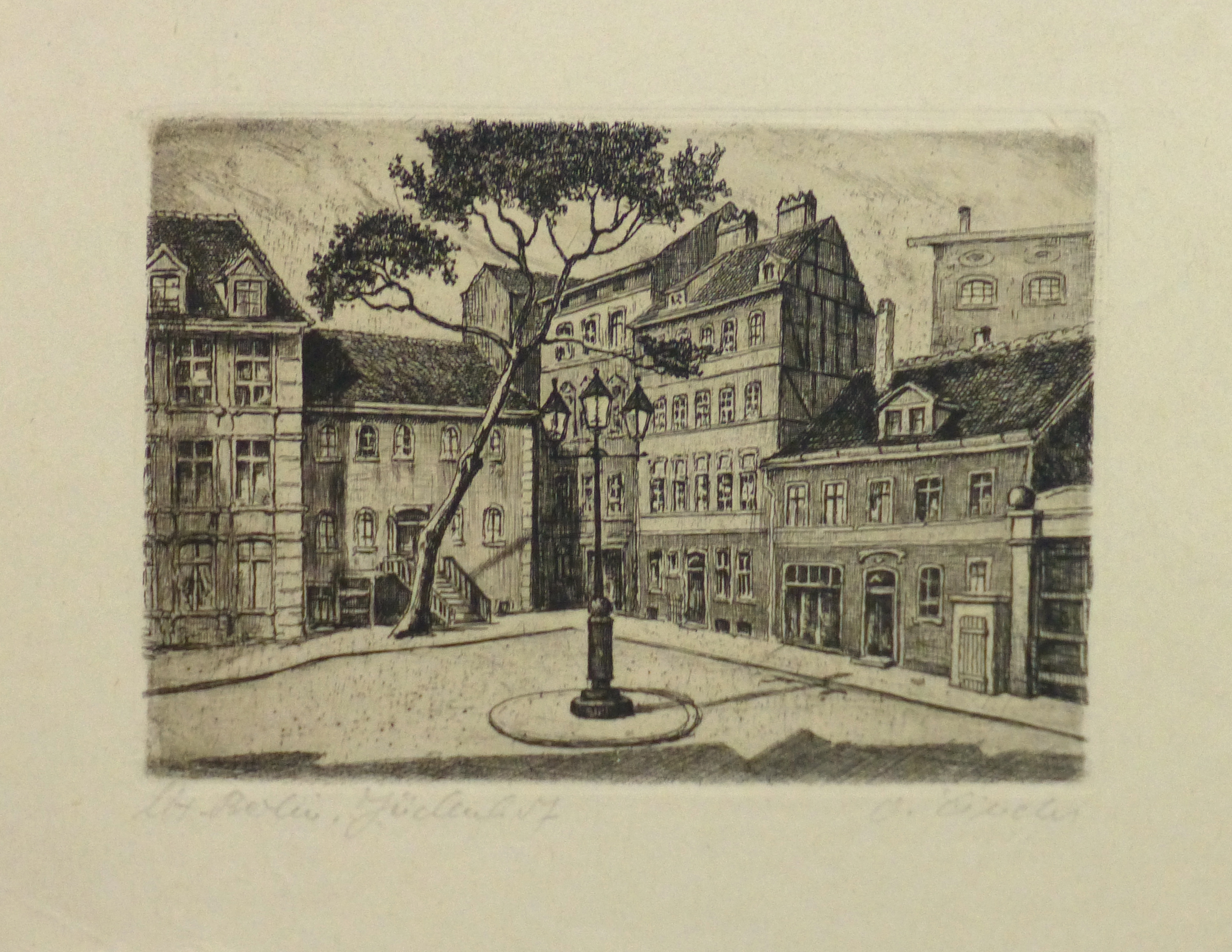 Aquatint - Town Center, Circa 1930-main-10753M