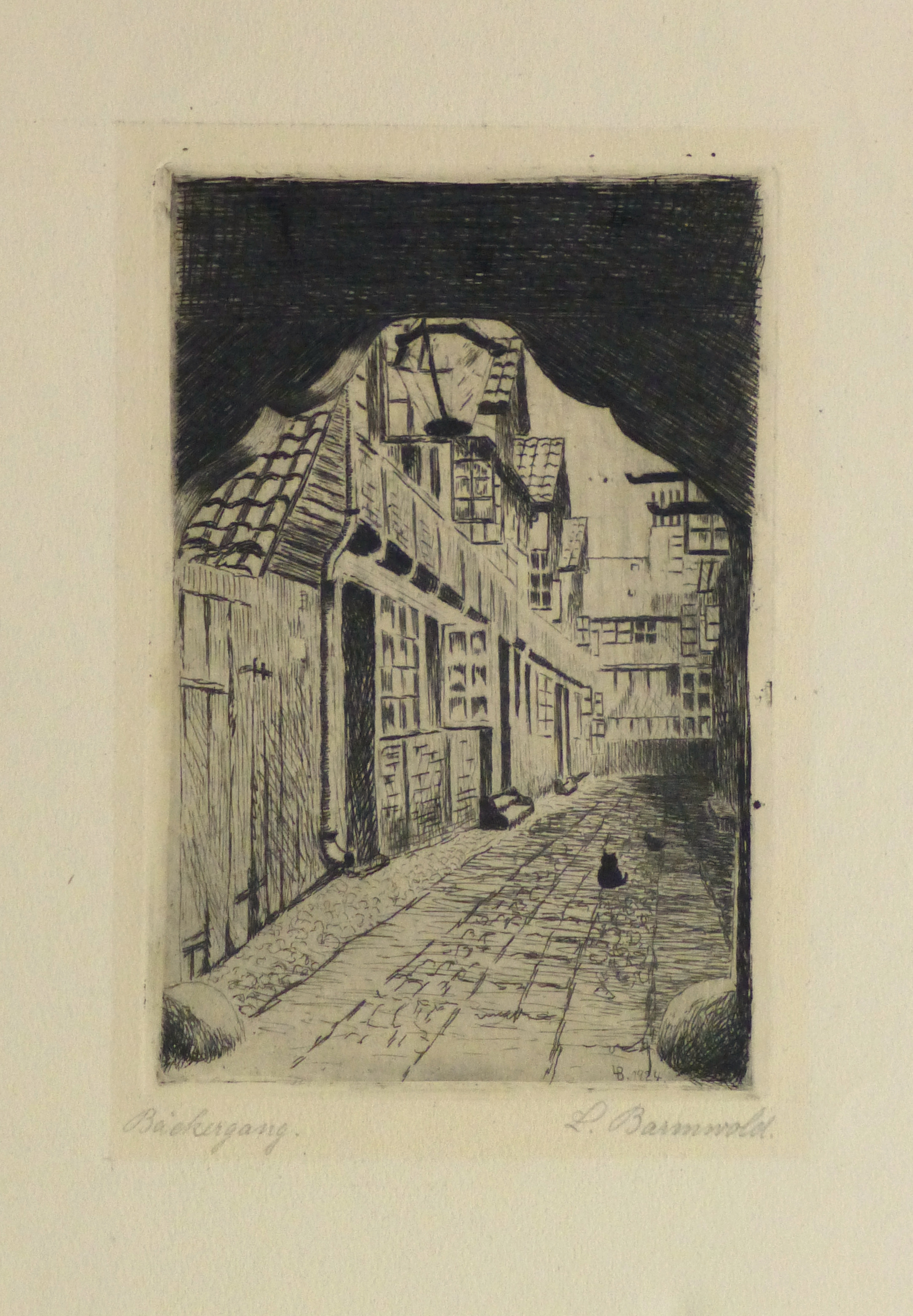 Etching - The Alley Cat, 1924-main-10755M