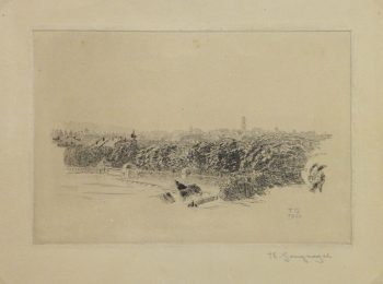 Etching - Vantage Point, 1920-main-10756M