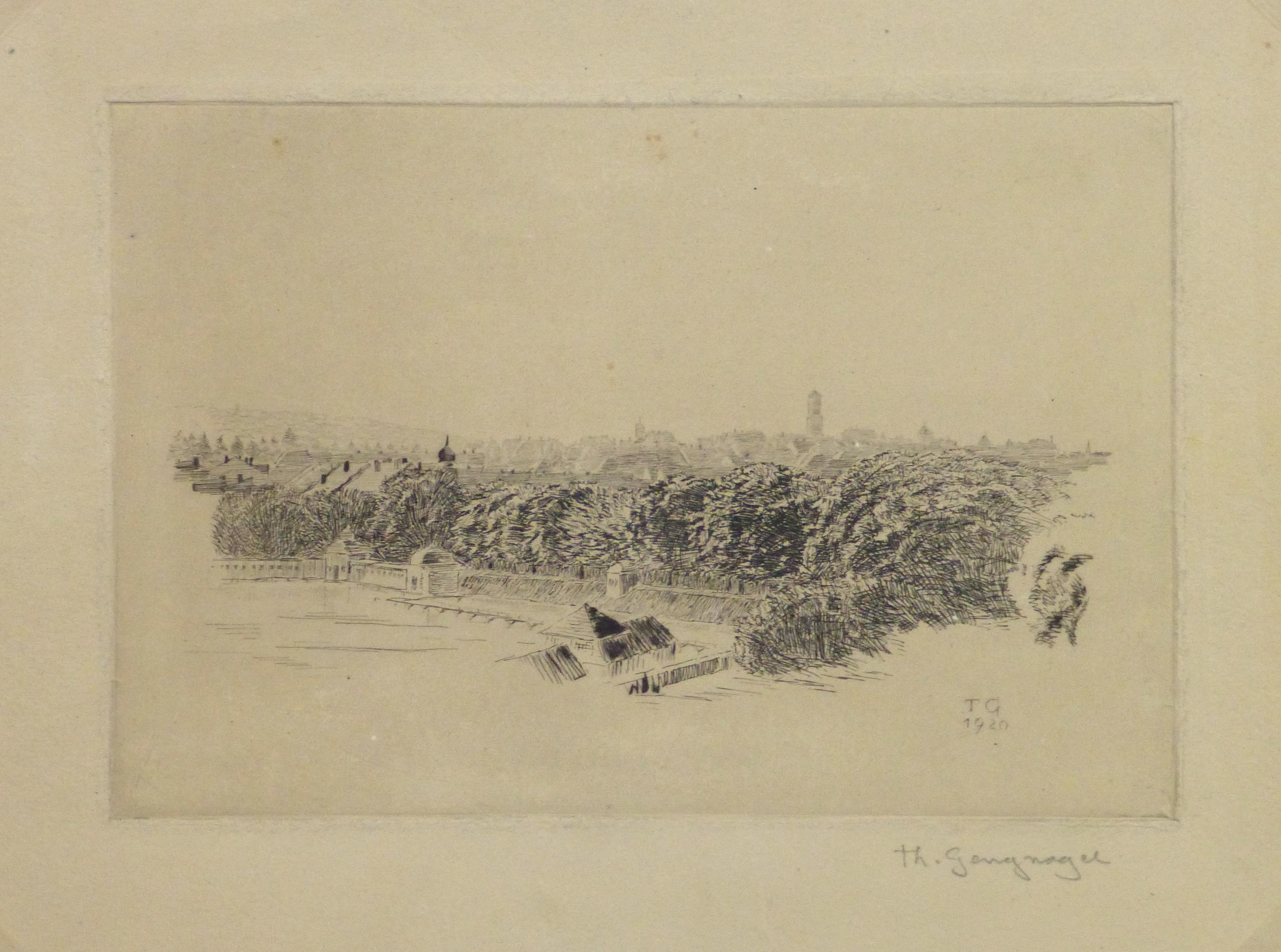 Etching - Vantage Point, 1920-main-10756M