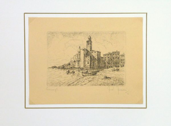 Etching - Distant Shores, 1946-matted-10757M