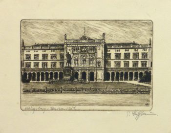 Etching - Stately Architecture, Circa 1950-main-10758M