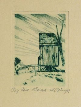 Etching - The Windmill, Circa 1920-main-10759M