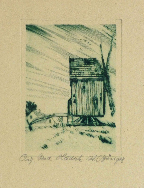 Etching - The Windmill, Circa 1920-main-10759M