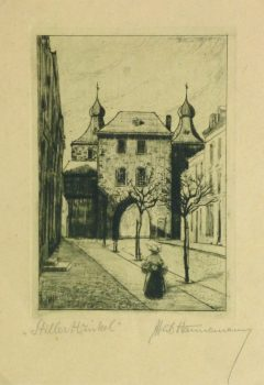 Etching - Afternoon Errands, Circa 1930-main-10760M