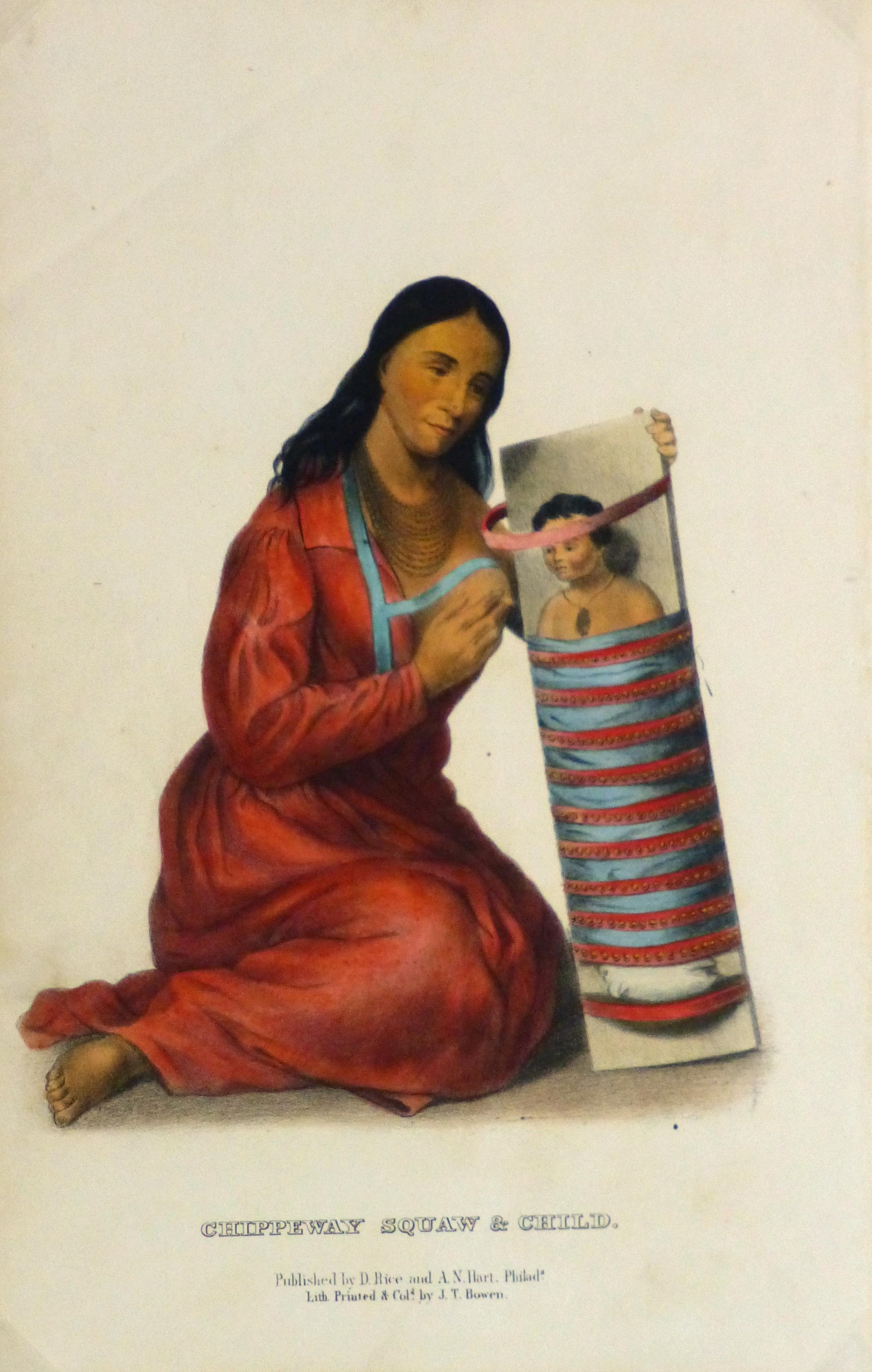 Chippewa Indian & Child Print, 1858-main-5104K