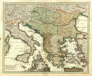 Map of Italy to Greece, 1724-main-7269K