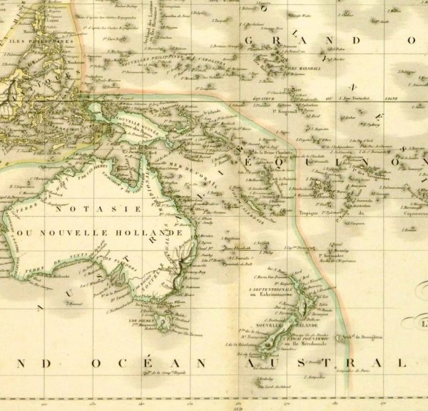 Australia & Polynesia Map, 1838-deatil-8076k