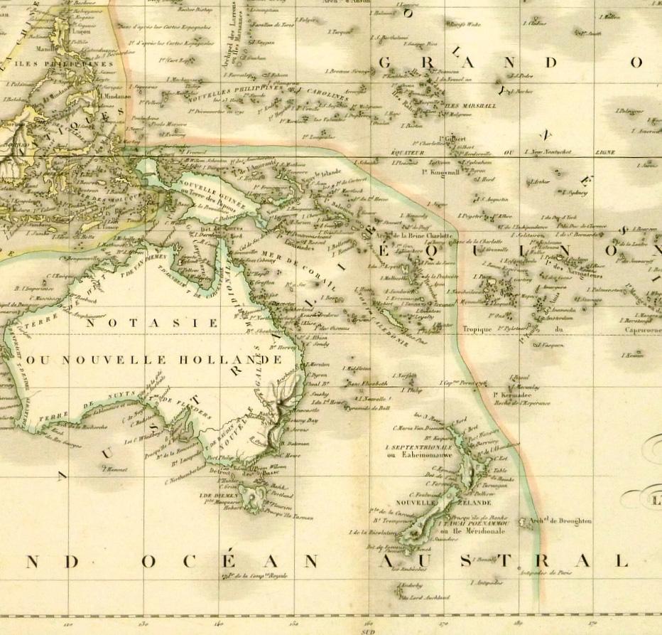 Australia & Polynesia Map, 1838-deatil-8076k