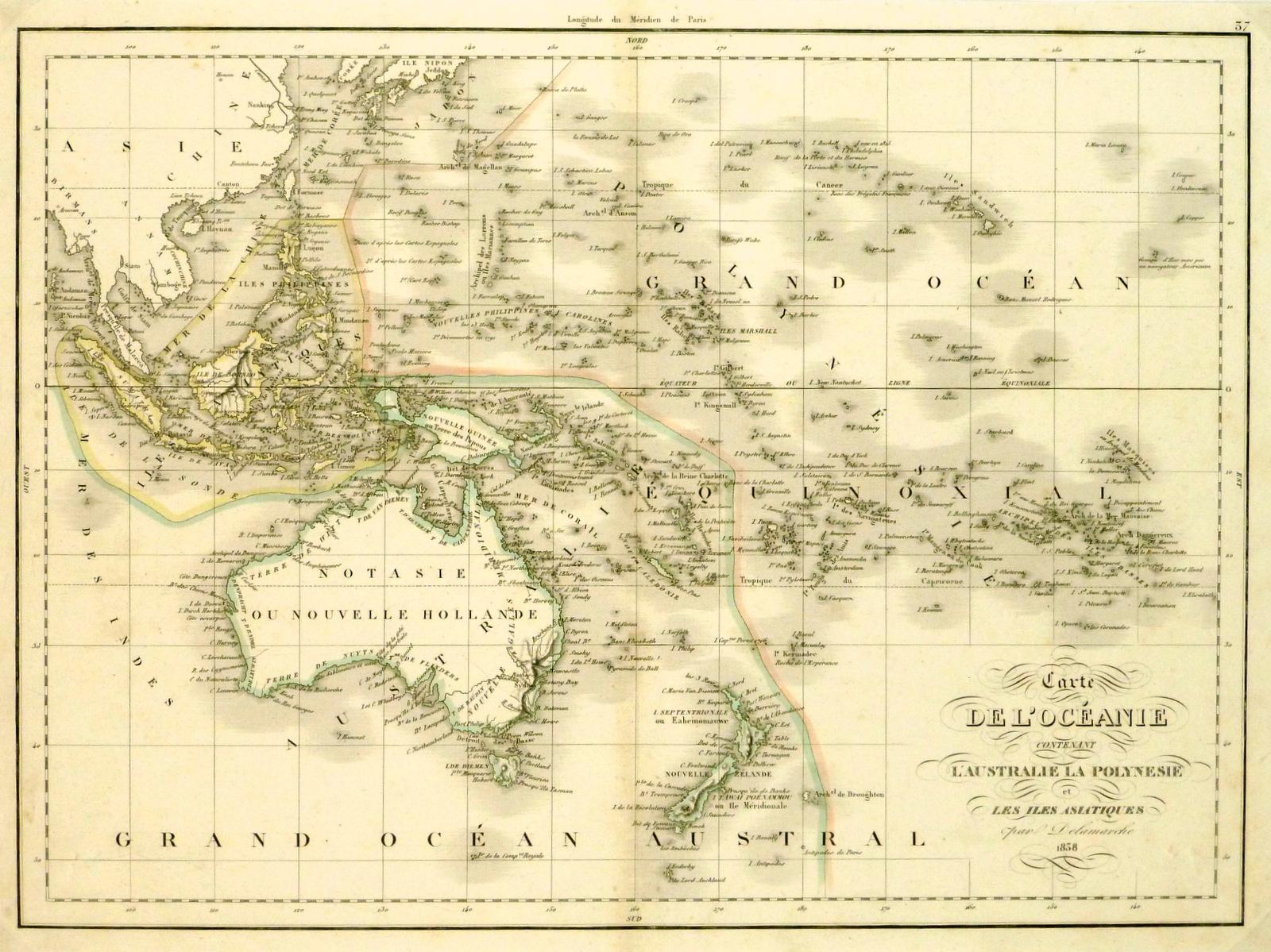 Australia & Polynesia Map, 1838-main-8076k