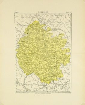 Hereford, England Map, Circa 1880-main-8188K
