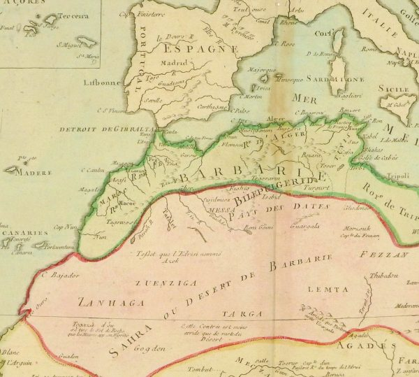 North Africa Map, 1767-detail-8286K