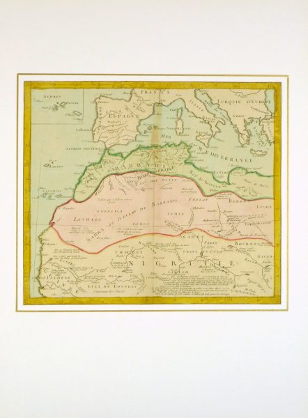 North Africa Map, 1767-matted-8286K