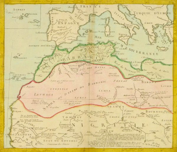 North Africa Map, 1767-main-8286K