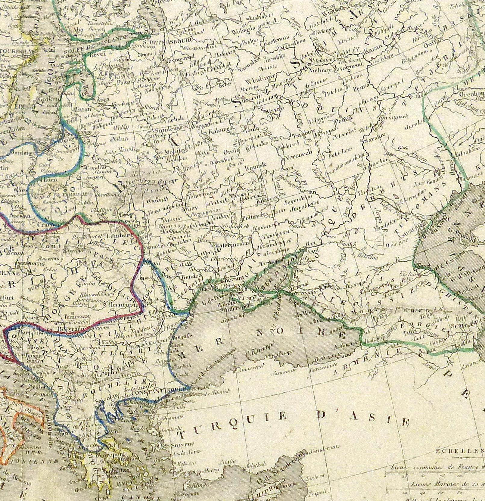 Europe Map, 1842-detail-8825K