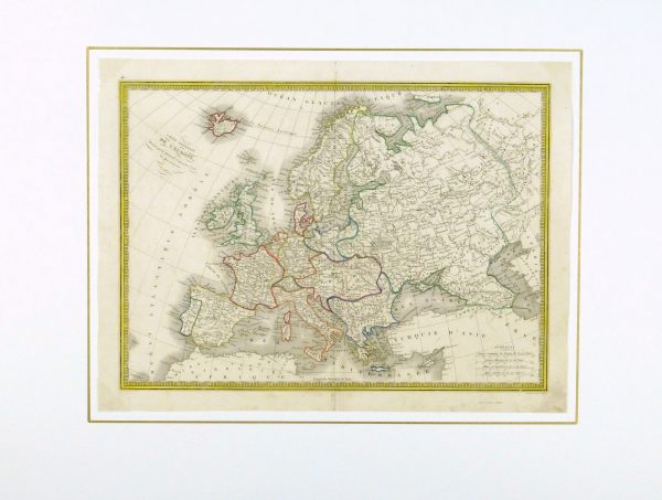 Europe Map, 1842-matted-8825K