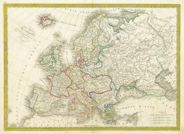 Europe Map, 1842-main-8825K