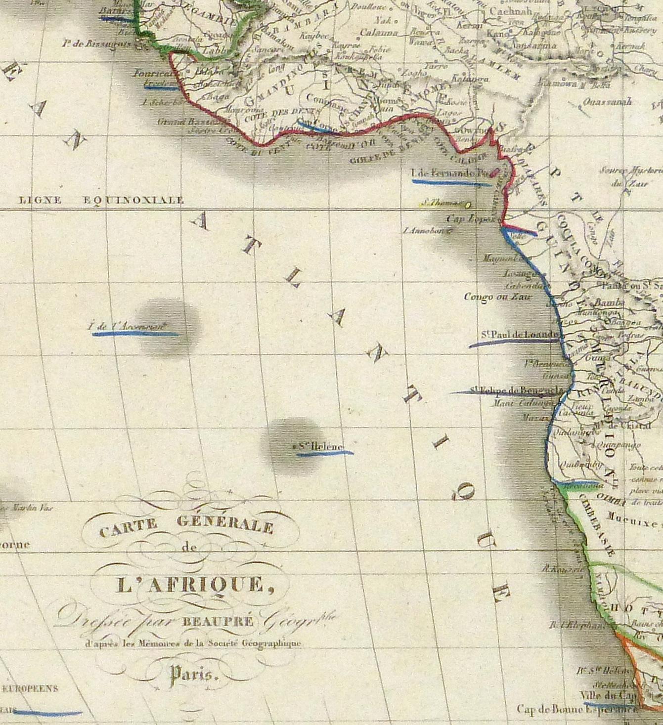 Map - Africa, 1842-detail 2-8982K