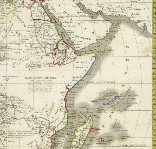 Map - Africa, 1842-detail-8982K