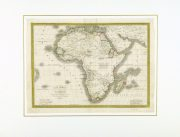 Map - Africa, 1842-matted-8982K