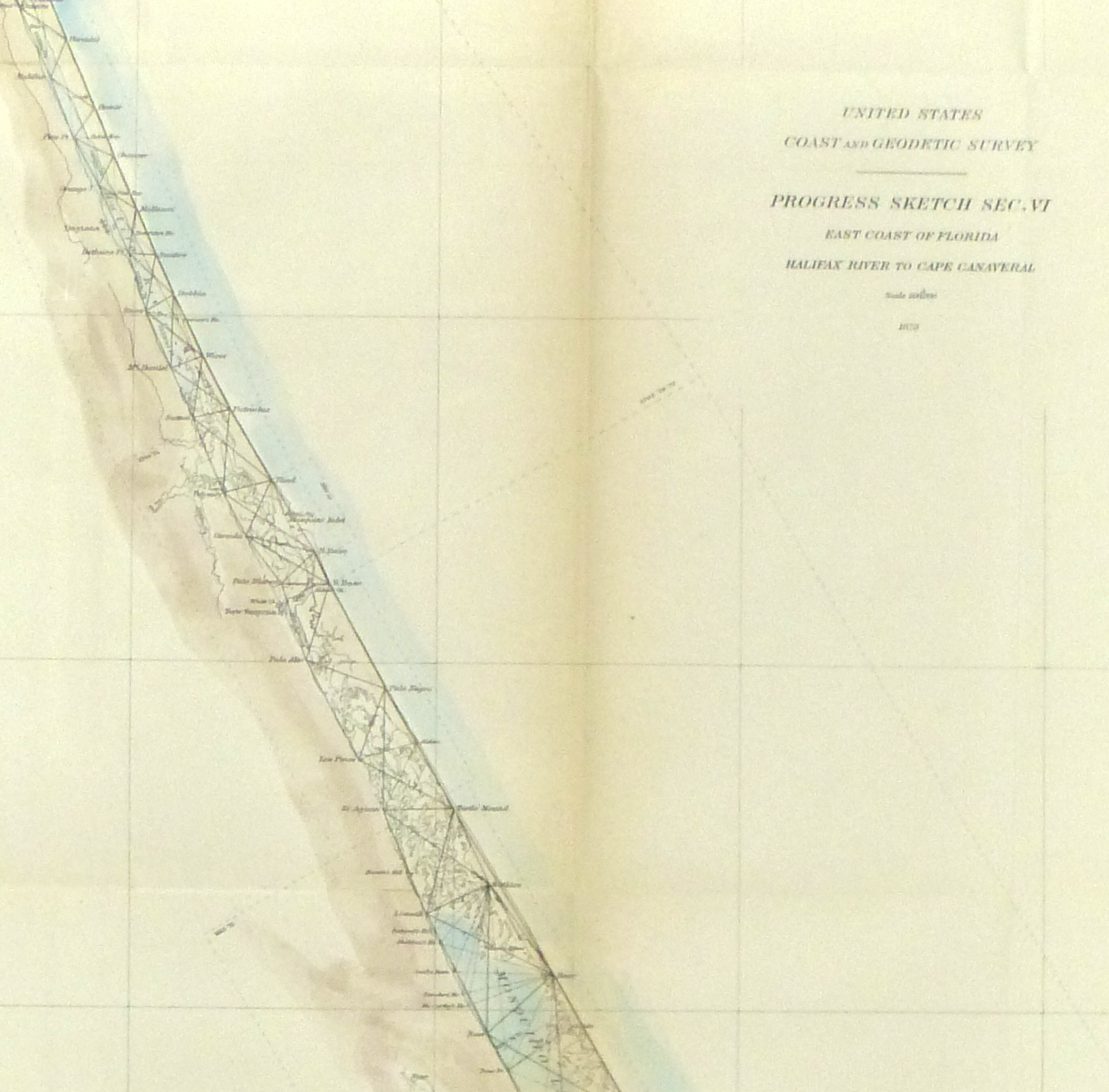 Map Florida Coast, 1879-detail-9057K