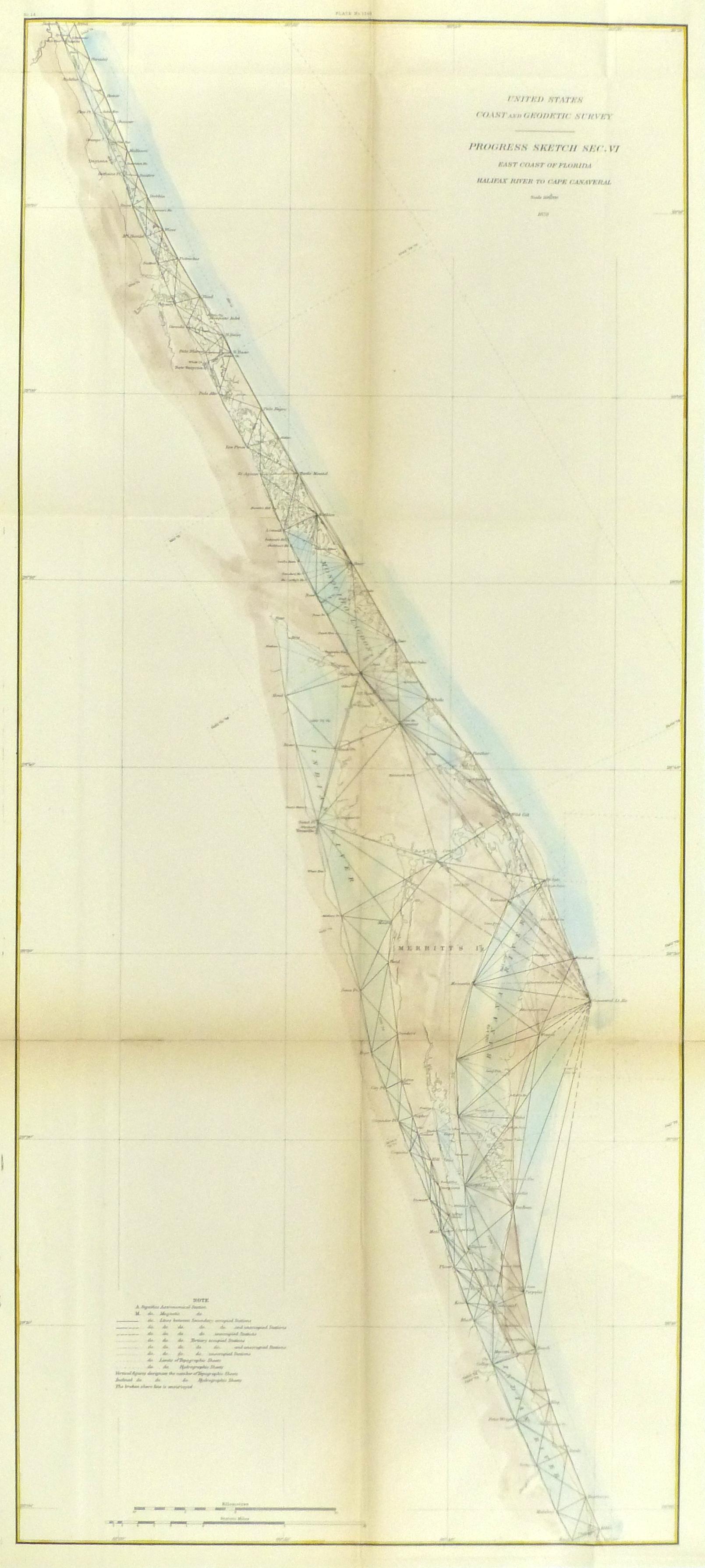 Map Florida Coast, 1879-main-9057K