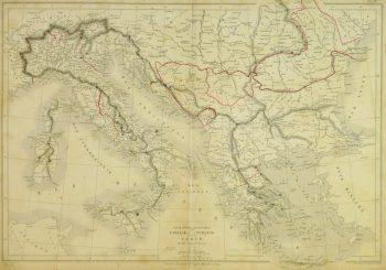 Southern Europe Map, 1884-main-9374K