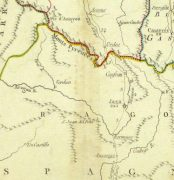 Map of the Pyrenees, Circa 1750-detail-9433K