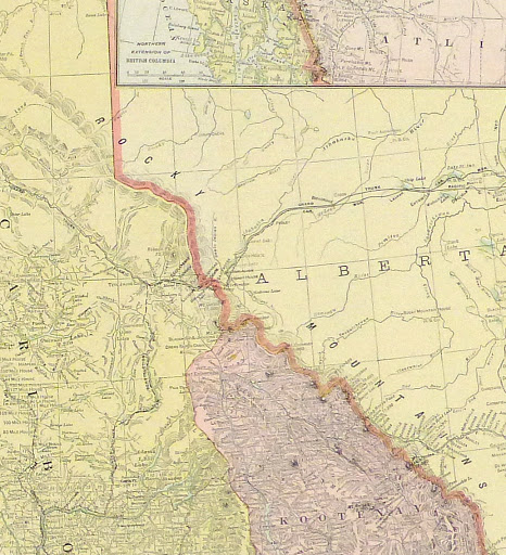 British Columbia, Canada Map, 1916-detail-9458K