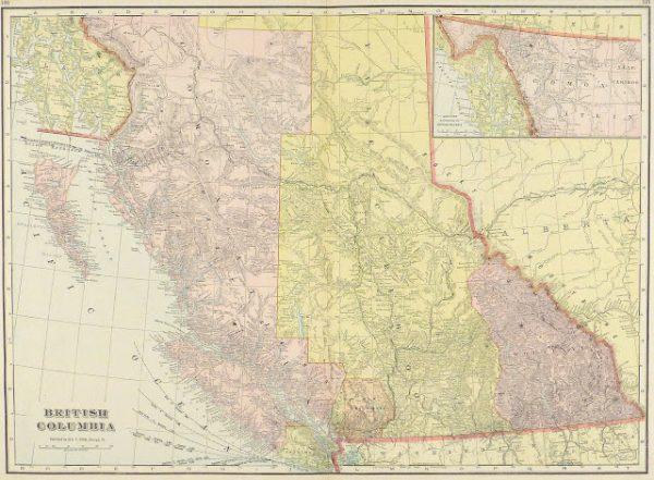 British Columbia, Canada Map, 1916-main-9458K