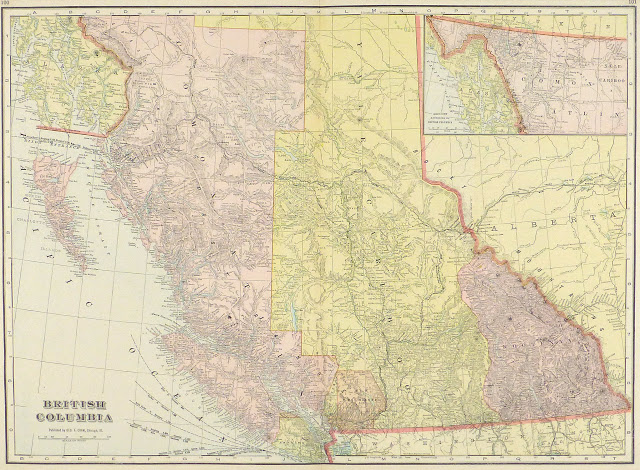 British Columbia, Canada Map, 1916-main-9458K