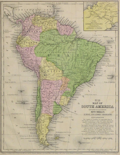 South America Map, 1860 - Original Art, Antique Maps & Prints on map of civil war 1860, map of usa in 1860, map of religion in 1860, map of the united states 1860, map of prussia 1860, map of boston 1860, map of kansas 1860, map of chicago 1860, map of alabama 1860, map of western states in 1860, map of u.s. 1860,