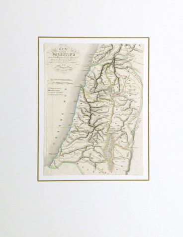 Holy Land Map, 1838-matted-9482K