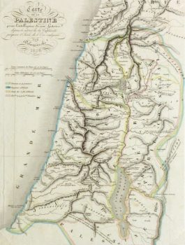 Holy Land Map, 1838-detail-9482K